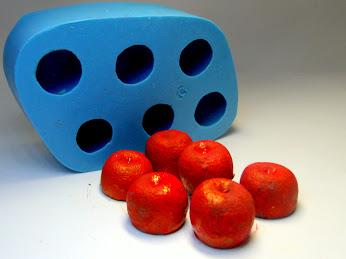 Molde de Silicone Cereja Mini 6 cavidades