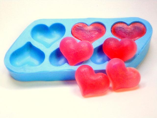 Molde de Silicone Coração Mimoso 6 cav