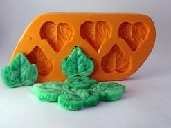 Moldes de Silicone Folha de Uva 6 cavidades