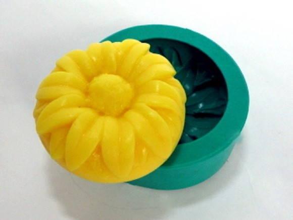 Forma de silicone Girassol com Base Redonda