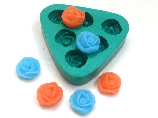 Forma de silicone Rosas Mini-Mini 6 Cavidades