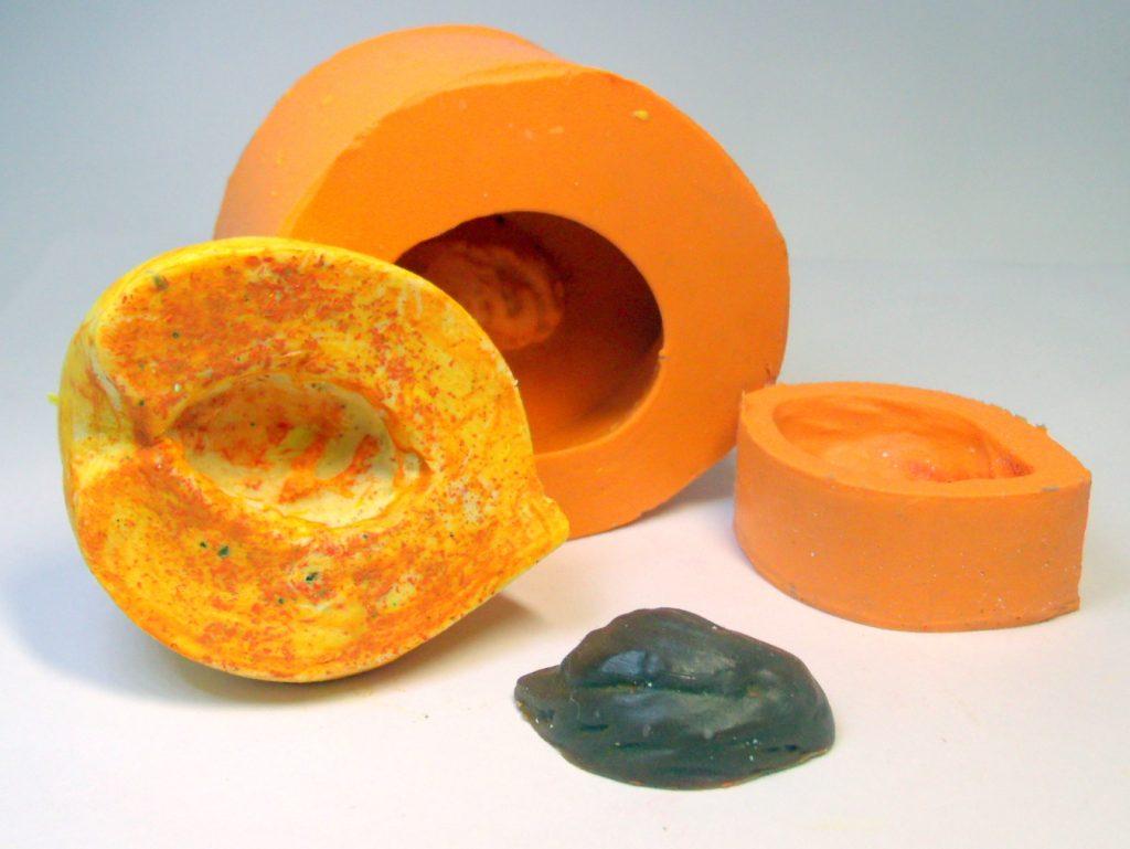 Forma de silicone Pêssego com Caroço
