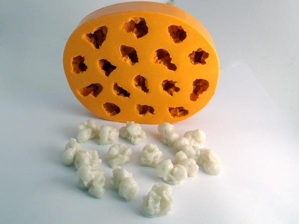 Forma de Silicone Pipoca 16 cavidades