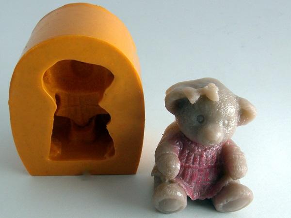 Forma de Silicone Urso Menina Mini