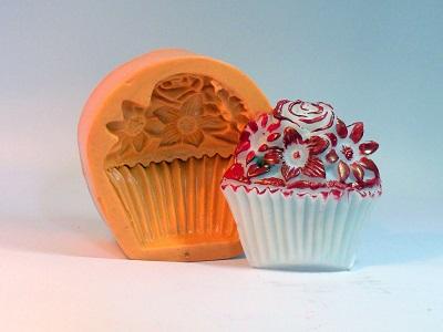 Molde de Silicone Cupcake Flor