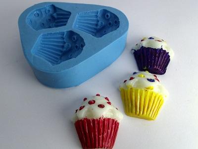 Molde de Silicone Cupcake Confete Mini 3 cavidades