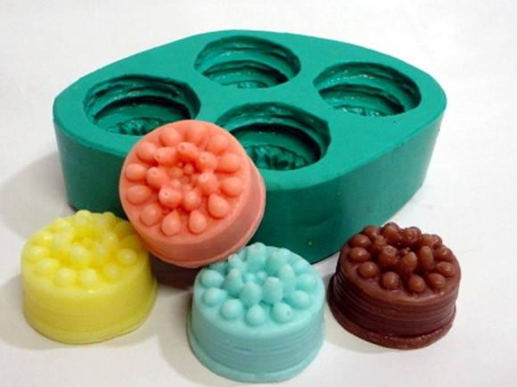 Forma de silicone Mini Bolos 4 Cavidades