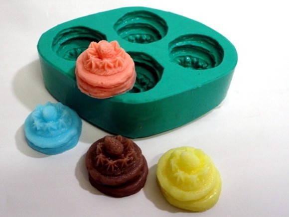 Forma de silicone Mini Panquecas 4 Cavidades