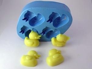 Molde de Silicone Pato mini 4 cavidades