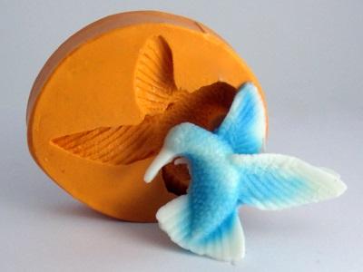 Molde de Silicone Beija Flor Mini
