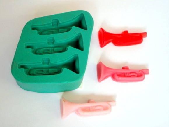 Forma de silicone Trombetas 3 Cavidades