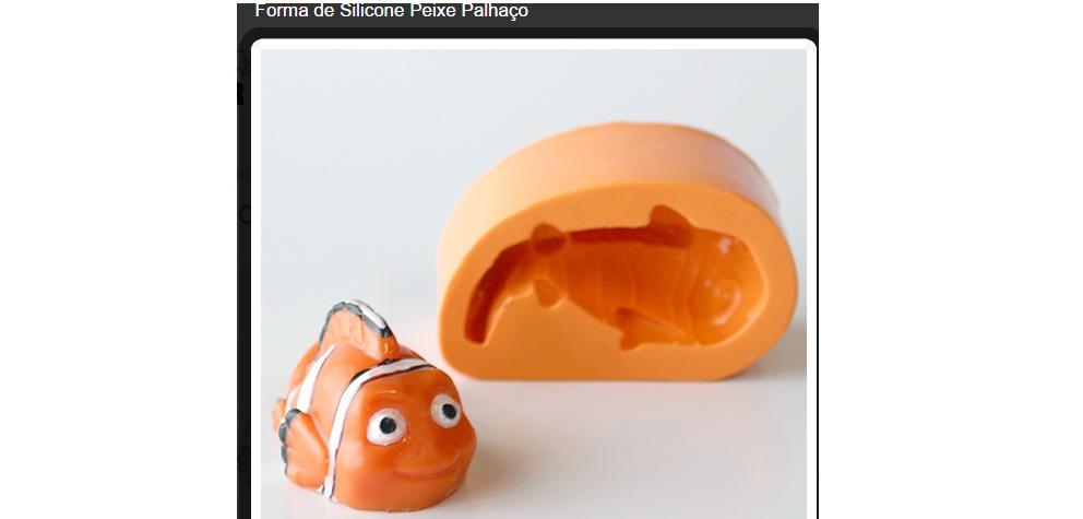 Forma de Silicone Peixe Palhaço