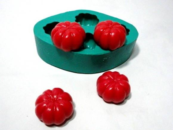 Molde de Silicone Pitangas 4 Cavidades