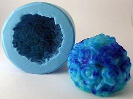 Molde de Silicone Esfera com Rosas